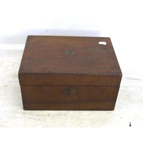 5 - C19th Walnut Writing Box for restoration (A6)...