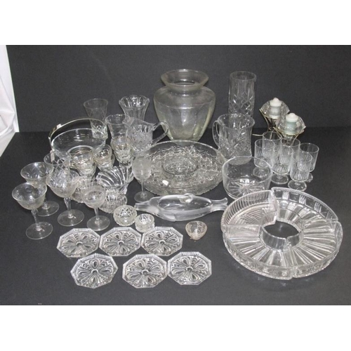 1016 - Glassware incl. amber glass water set, amber glass bowl, boxed set Millennium glasses, boxed hors d'...