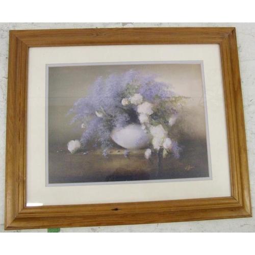 359 - F/g Print Still Life Flowers in Bowl (BWL)...