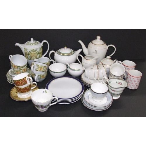 922 - Wedgwood Cups & Saucers, Terrace teapot, Wedgwood jade teapot, milk & sugar, QEII 2002 coffee set (1...