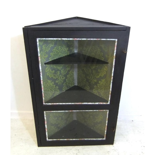 106 - Black Painted Hanging Display Cabinet (A10)...