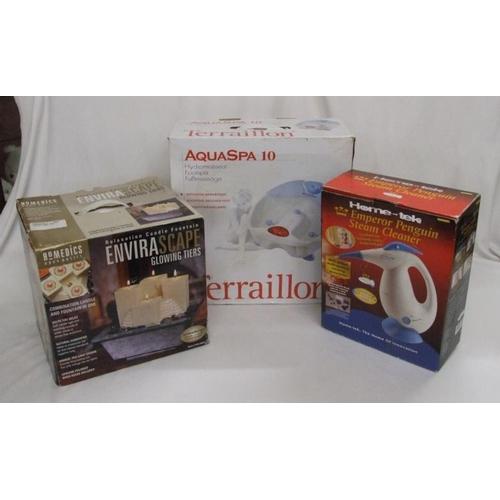 932 - Terraillon Aqua Foot Spa/Massager, Home Tek Emperor Penguin Steam Cleaner & Enviroscape Glowing Tier...