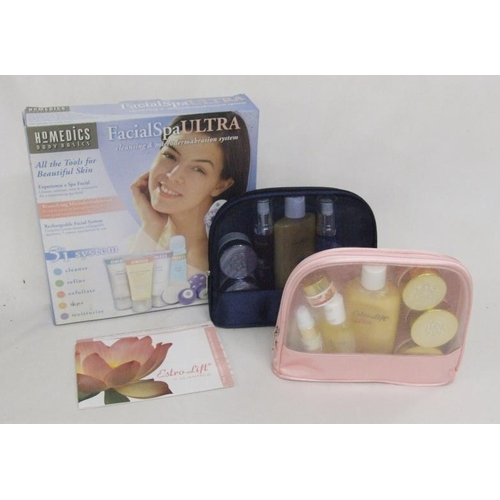 706 - Boxed As New Facial Spa Ultra & 2 As New Cientele Toiletry Sets...