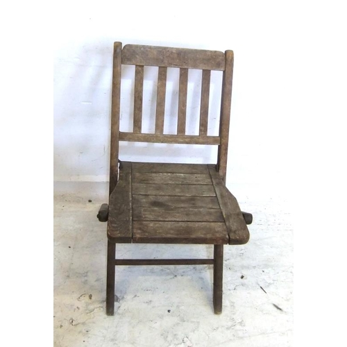82 - Child's Folding Wooden Chair with slatted seat (A7)...