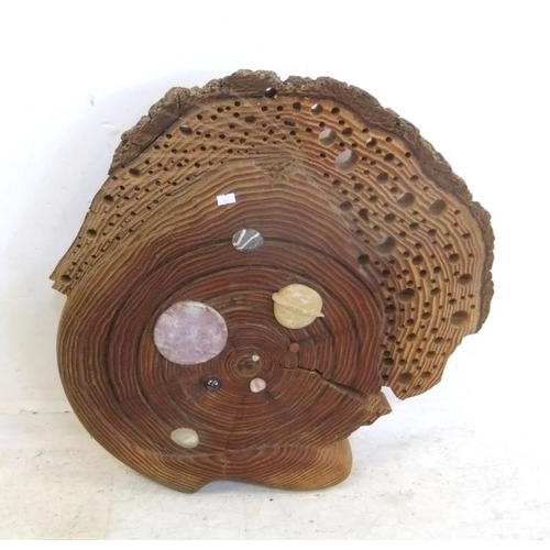 86 - Carved Wooden Sculpture Solar System (A1)...