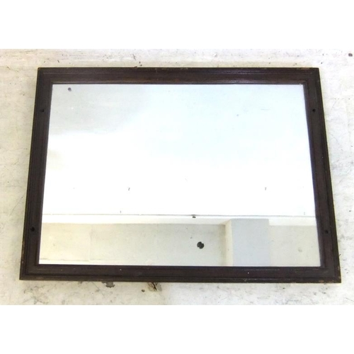 91 - Rectangular Wooden Framed Mirror (FW)...