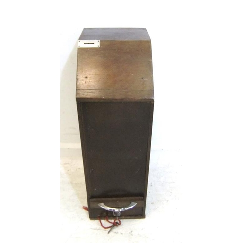 96 - Postcard Dispenser with coin slot, lockable drawer under, hinged front (A1)...