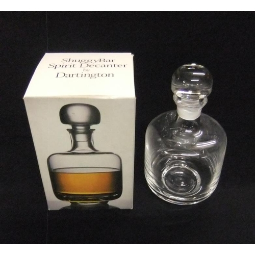 568 - Dartington Crystal 'Shuggy Bar' Spirit Decanter, signed by Frank Thrower, in box...