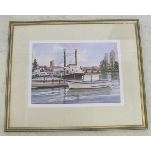 378 - Derrick Waller Print 'The New Orleans At Henley-on-Thames' (A13)...