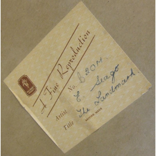 382 - Edward Sego Print 'The Landmark' in decorative gilt & cream frame (A13)...