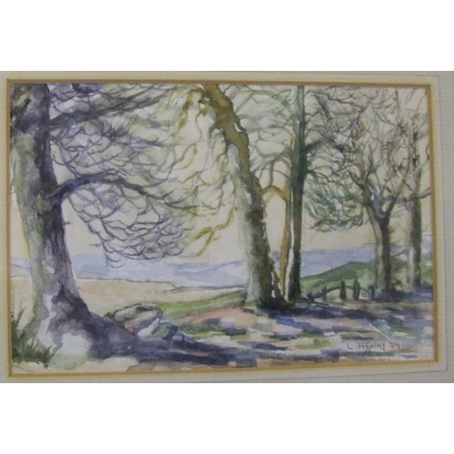 390 - F/g Watercolour 'Landscape of Trees' by Lucille Henry (A10)...