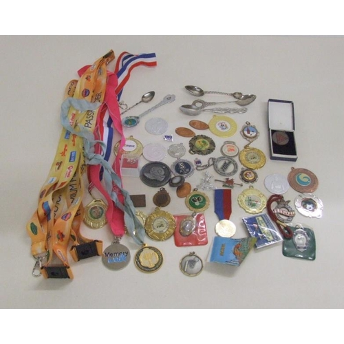 768 - Sports & Other Medallions, commemorative spoons, etc....