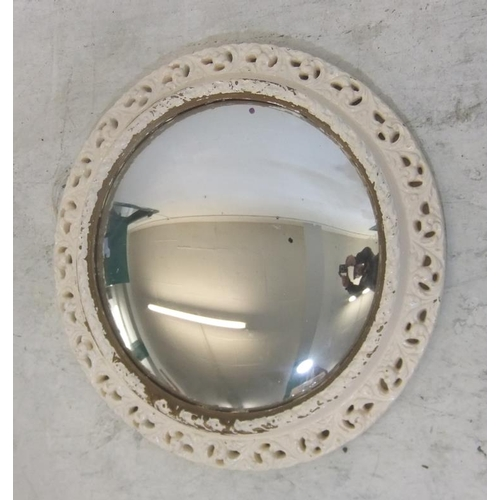 120 - Over-Painted Gilt Plaster Framed Convex Wall Mirror (FWR)...