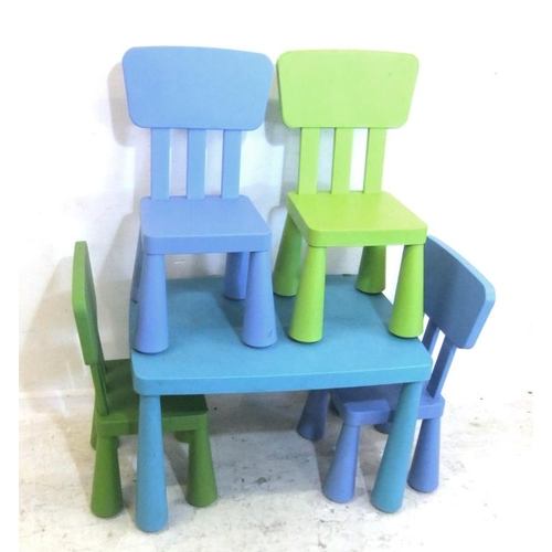 139 - Child's Ikea Table & 4 Chairs (5) (A14)...