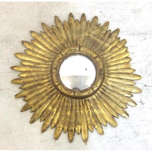 145 - Circular Flower Head Wall Mirror with convex glass (FWR)...