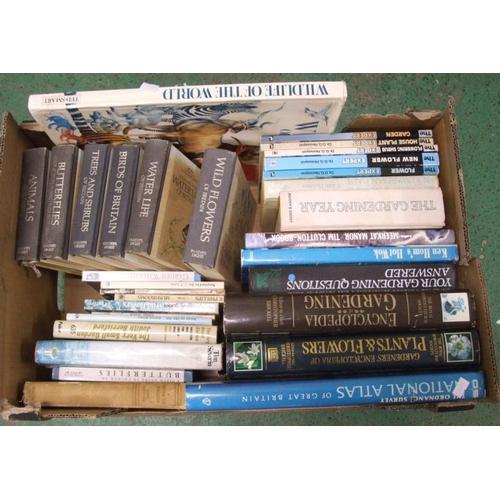 1112 - Books: Wild Flowers, Water Life, Birds of Britain, Butterflies, Mushrooms, etc. (1 Box)...
