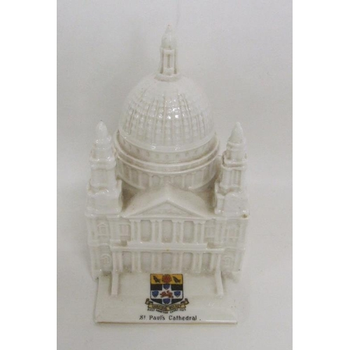 627 - Willow Art Longton China Crested Ware Model St Paul's Cathedral, approx. 5