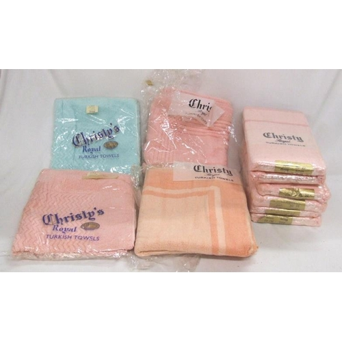 989 - New Unused Christie Royal Turkish Towels with Harrod's price labels (1 Box)...