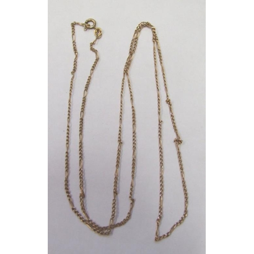 538 - 9ct Gold Ladies Neck Chain with bolt ring clasp...