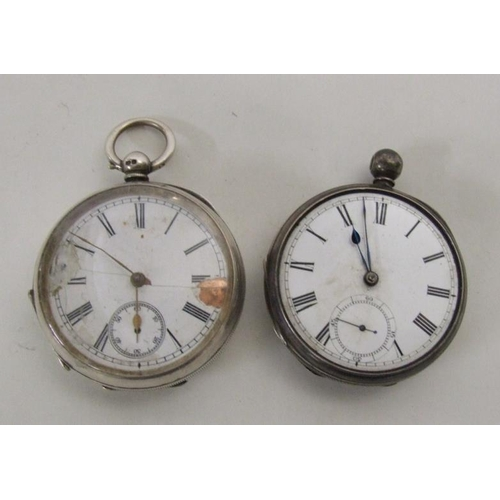 544 - 2 Silver Cased Pocket Watches for repair...