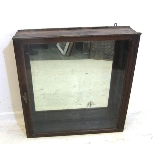 154 - Glass Fronted Mirror Backed Victorian Wall Cabinet (A3)...