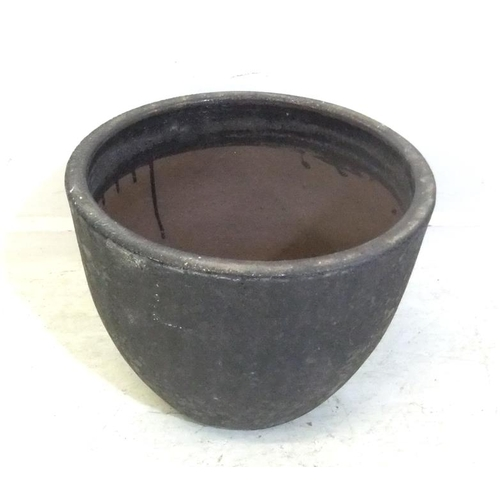 194 - Cauldron Shaped Pottery Planter, approx. 12