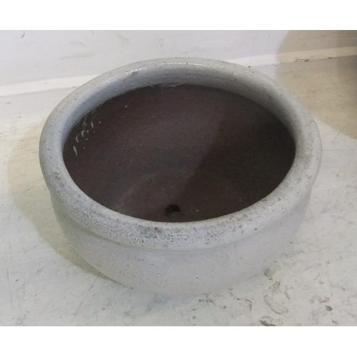 195 - Cream Glazed Pottery Planter, approx. 8