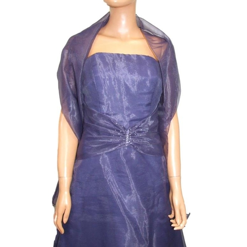1170 - Emily Fox Purple Evening/Prom Dress with matching shawl, labelled size 14...