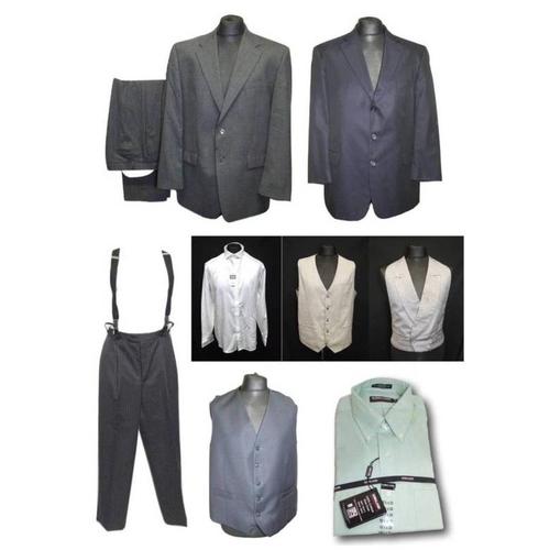 1194 - Mens As New Burtons White Shirt size L, Kirkland As New Shirt size 16 1/2, Perry Ellis grey waistcoa...