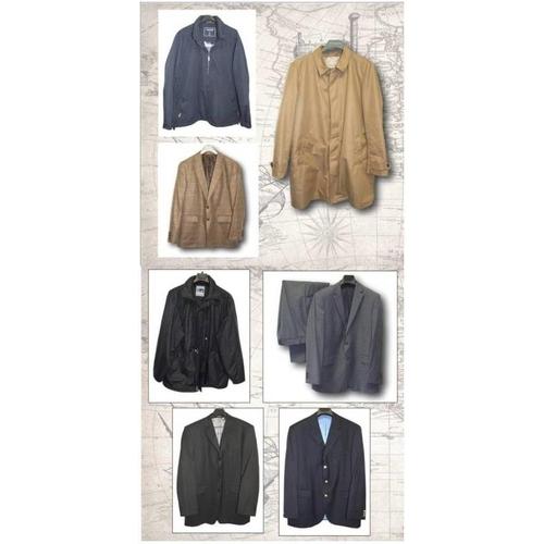 1193 - Karl Jackson black wool jacket size 44, Karl Jackson grey pinstripe suit, M&S Tailoring black jacket...