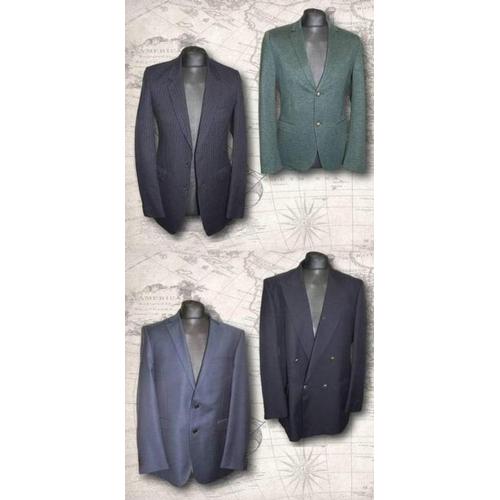 1187 - 4 Mens Jackets size 40: Lanificio Cerruti dark blue wool & St Michael Dark Blue Wool Mix & 2 Mens Ja...