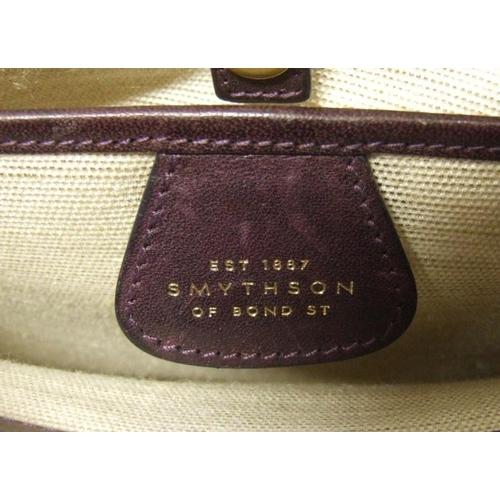 719 - Smythson of Bond Street 'Cooper' Violet Goatskin Tote Bag...