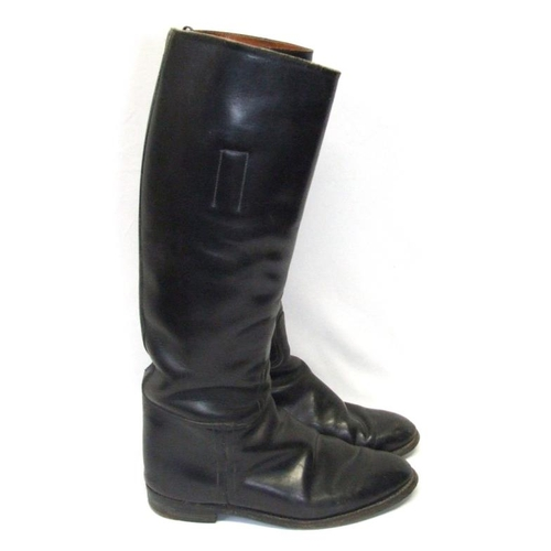 957 - Pair Black Leather Riding Boots size 7 1/2...