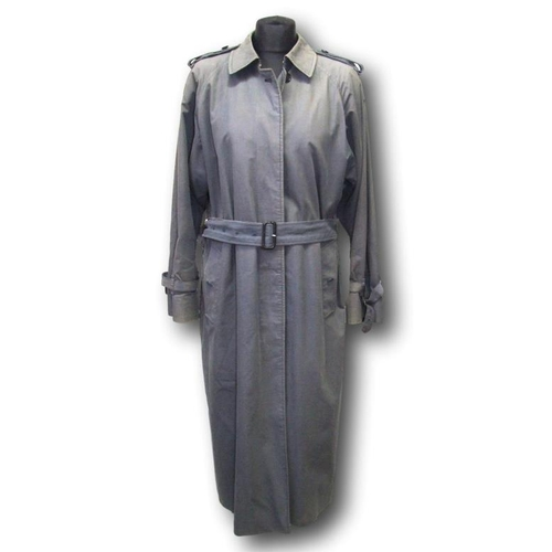 1169 - Ladies Burberrys Grey Trench Coat, labelled HM 51992/1 12 Long...
