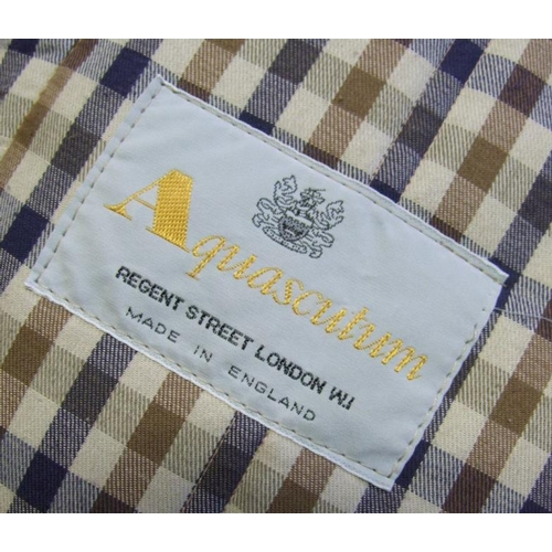 1167 - Ladies Vintage Aquascutum Beige Padded Cotton Coat, with belt, labelled size 14...