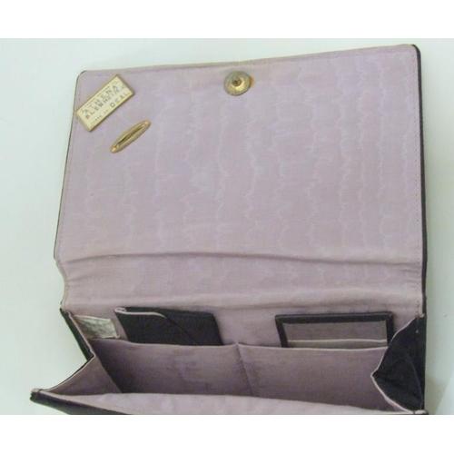 722 - 2 Art Deco Black Water Silk Evening Bags & Beaded Evening Bag (3)...