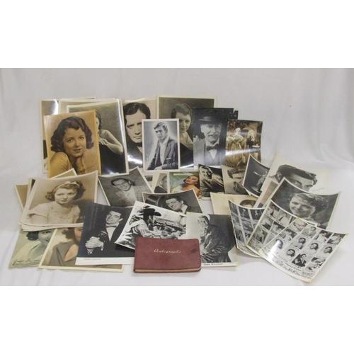 778 - 32 Publicity Photos incl. Frankie Vaughan, Richard Dix, Johnny Ray, Stan Kenton, Cyd Charisse, Laure...