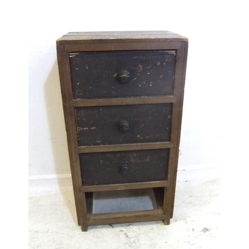 225 - Small Pine Chest of 4 Drawers (A6)...