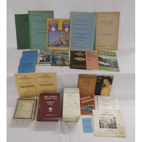 793 - The Royal Automobile Club Foreign Itinerary Booklets, Kent County Cricket Club Annuals 1957, 1960, 1...