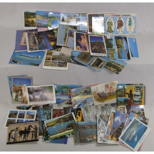 786 - Postcards incl. foreign & British resorts, some vintage incl. greetings cards, set 11 etchings 'Parl...
