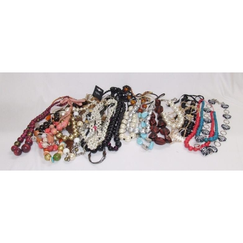550 - Large Costume Jewellery Necklaces & Belts...