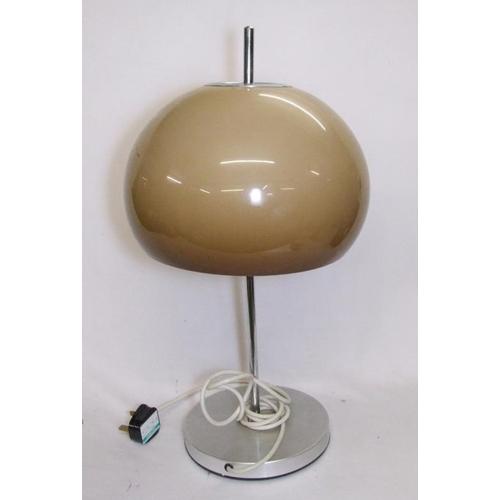 702 - Vintage 1970s Guzzini? Mushroom table lamp with beige shade...