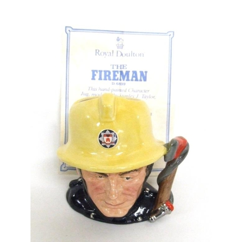 599 - Royal Doulton Limited Edition 'Journey Through Britain' Character Jug D6839 'The Fireman' No. 1849 w...