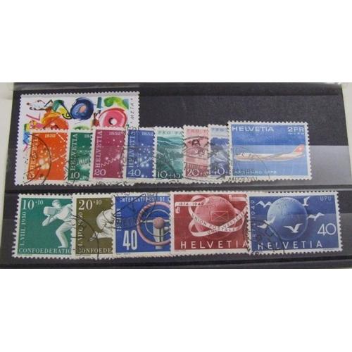 759 - Stamps: Switzerland Used Commemorative...