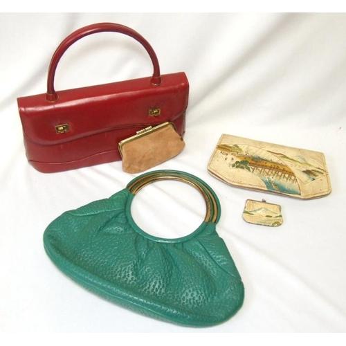 710 - 3 Vintage Leather Handbags...