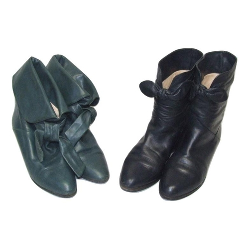 966A - 2 Pairs Ladies Vintage Russell & Bromley Leather Ankle Boots size 5 (2)...