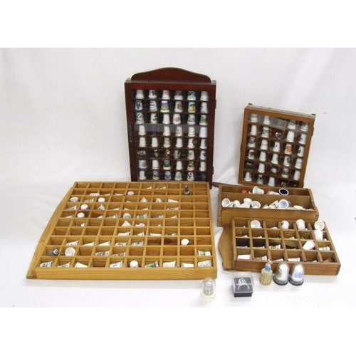 1027 - Souvenir & Other Thimbles in display cases (1 Box)...