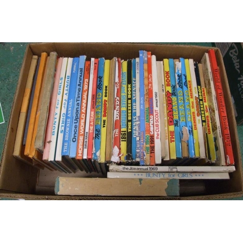 1131 - Books: 1970s/80s Children's Annuals incl. Beano, Dandy, Shiver & Shake, Bunty, etc. (1 Box)...