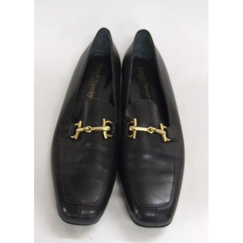 1138 - Pair Ladies Russell & Bromley Black Leather Loafers, size 42...