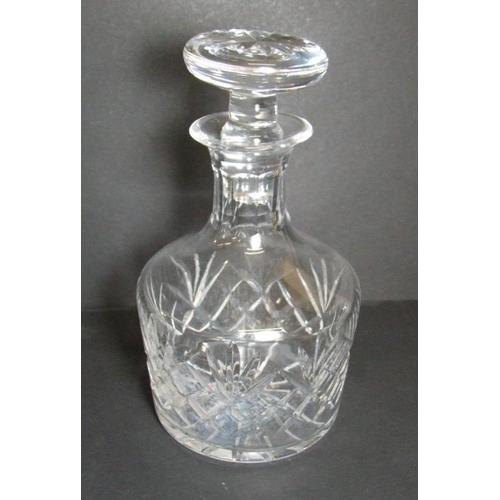 574A - Cut Crystal Mallet Shaped Decanter with mushroom stopper...